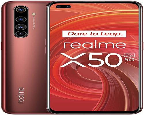 a Realme X50 Pro Rustic Red 5G Smartphone