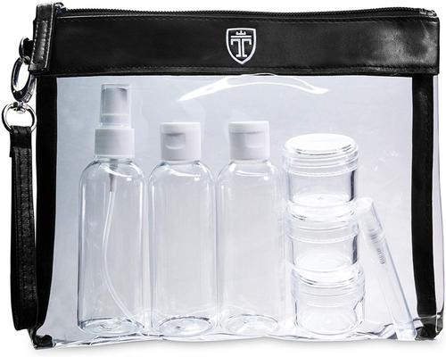 a Travando De Transparente Vanity Case + 7 Bottles