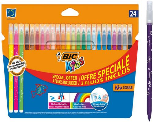 a Bolígrafo de punta mediana para colorear Bic Kids Kid Color S