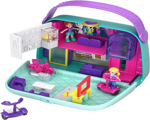 a Polly Pocket Accessory Gcj86 Universe Box The Shopping Bag With 2Mini-Figures And
