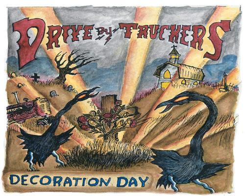 a Cd Decoration Day Drive-By Truckers - Decoration Day (Clear With Gold Splatter Vinyl, Limited Edition)