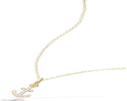 a Tata Gisele Pendant In Gold Plated And Cubic Zirconia