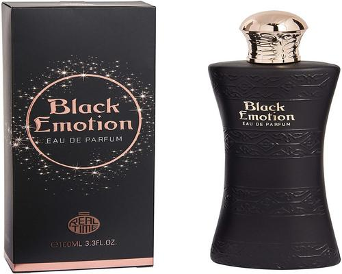 an Eau De Parfum Real Time Black Emotion 100 Ml