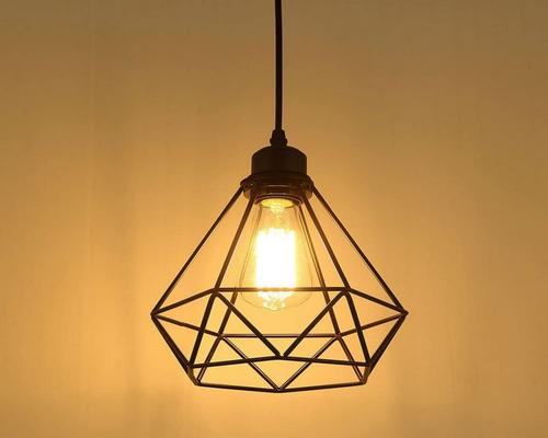 Industrial Pendant Light Fixture Retro Luster Ceiling Lamp Vintage Black Cage Ceiling Lighting Metal Shade For Restaurant Living Room Bedroom Kitchen Bar Hallway
