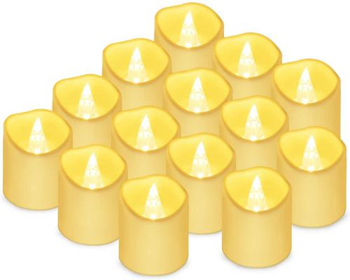 One Led Flickering Flame Candle Light 14 Pcs
