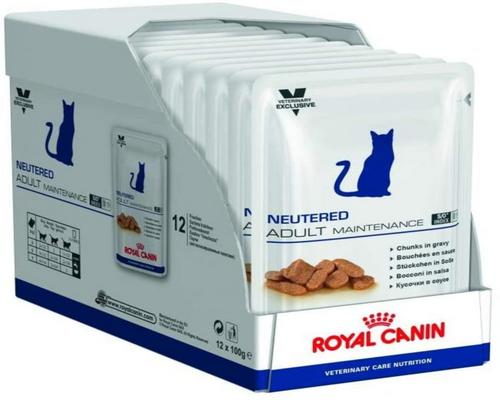 a Royal Canin Cat Neutered Adult Maintenance Cat 100 G Food Pack