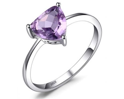 A Purple Triangle Ring