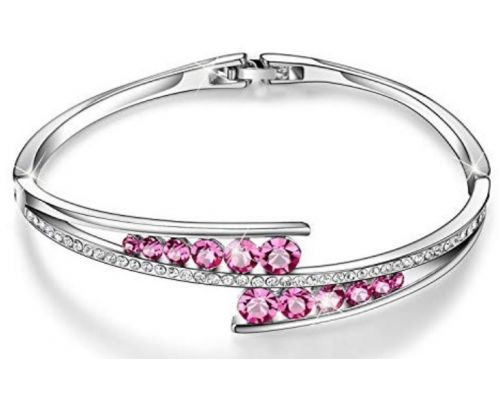 A Bracelet with Crystal Swarovski Rose