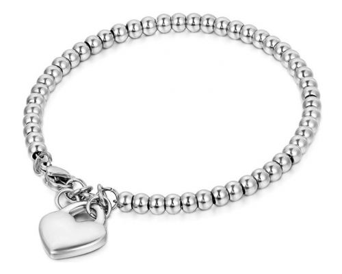 A Heart Bead Chain Bracelet