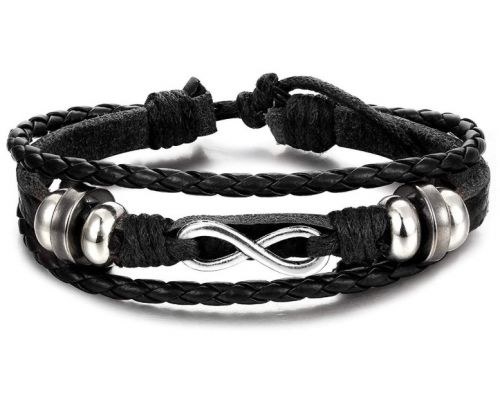 An Infinity Braided Leather Bracelet