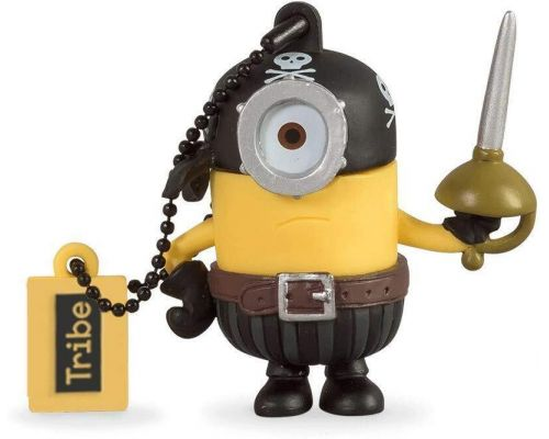 A 16 GB Minion Eye Matie Pirate USB key