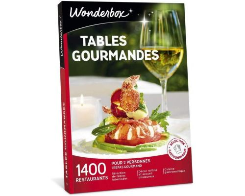 A Wonderbox GOURMET TABLES box