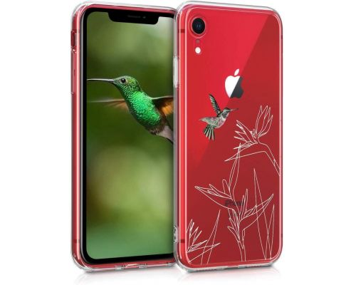 A Fuchsia-White-Transparent iPhone XR Case