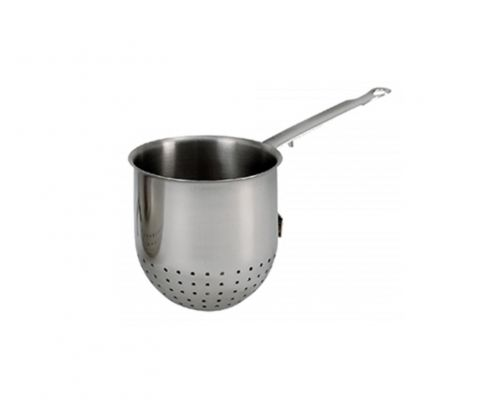 Pasta Cooker Round Stainless Steel with Tail Ø 12 cm