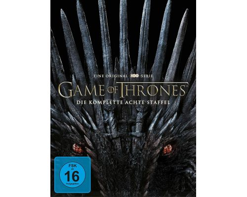 Un coffret DVD de la saison 8 de Game of Thrones
