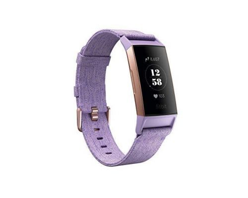 A Fitbit Charge 3 SE Fitness Activity Tracker, Lavender Woven