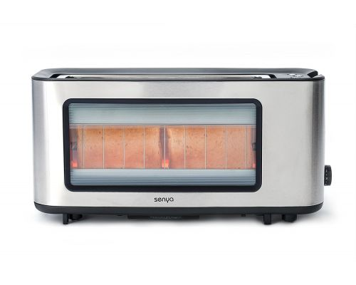 An Inox Toast and Perfect Toast Glass Toaster