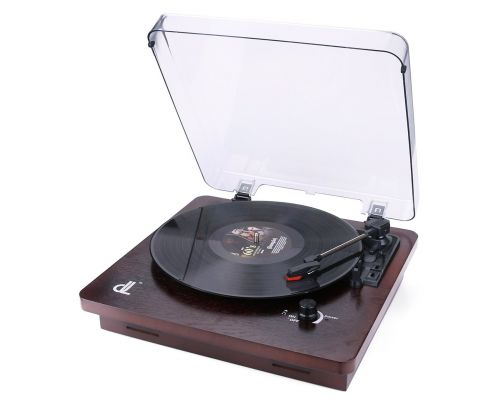 A vinyl turntable from dl