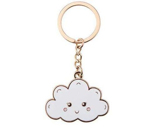 A Happy Cloud Keychain