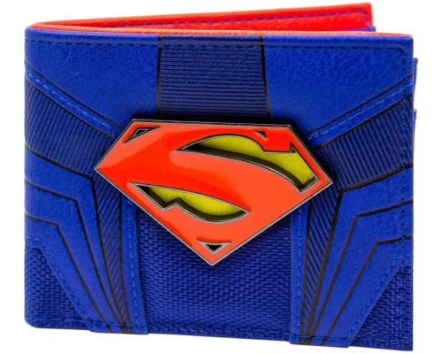 A DC Comics Superman Emblem Blue Wallet
