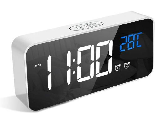 A digital alarm clock