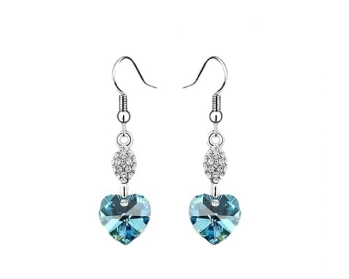 A Pair of Earrings ICandy Heart of Turquoise Clover