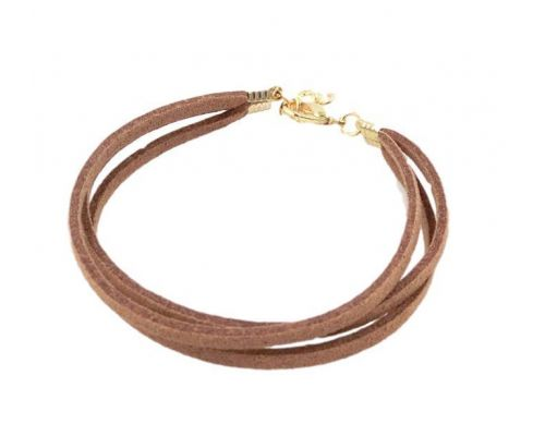 un Bracelet ICandy Twist Double Marron